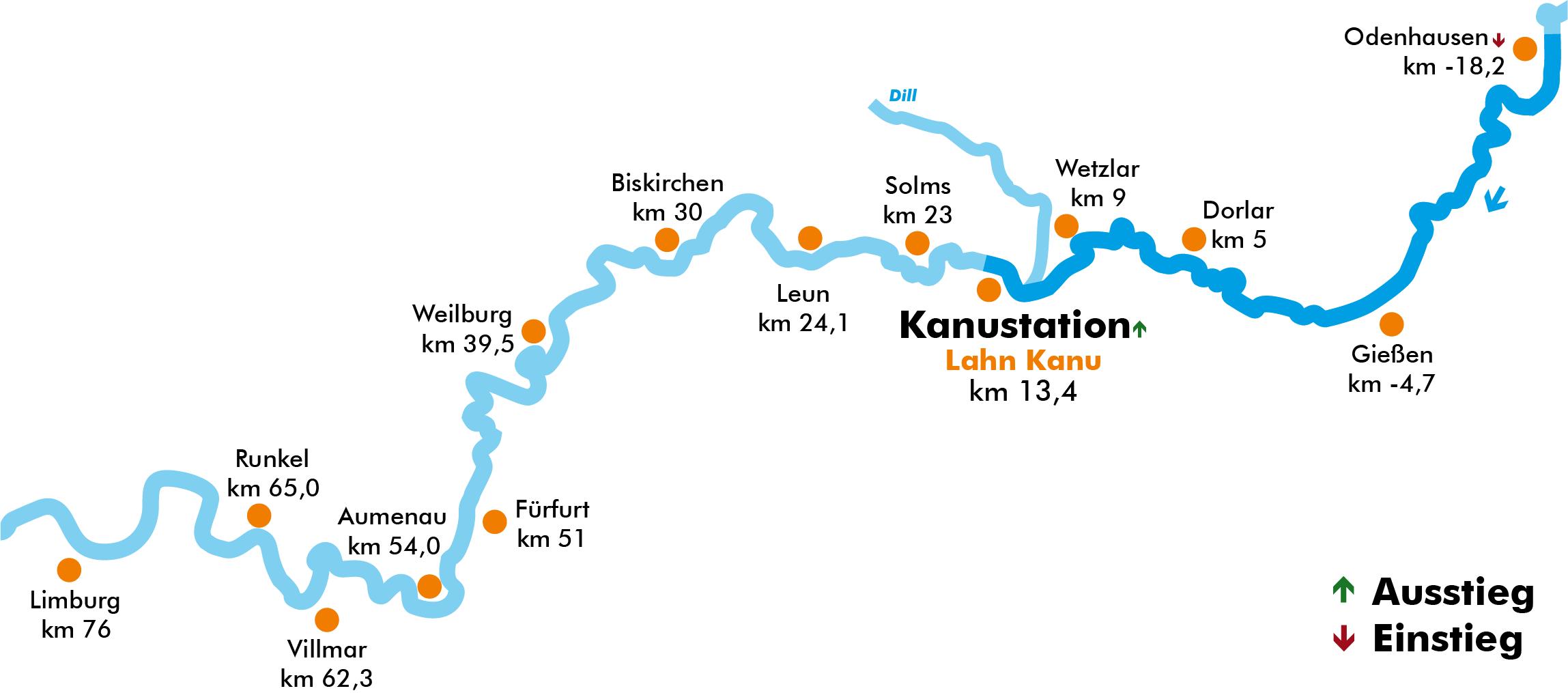 Lahnkarte Odenhausen Wetzlar